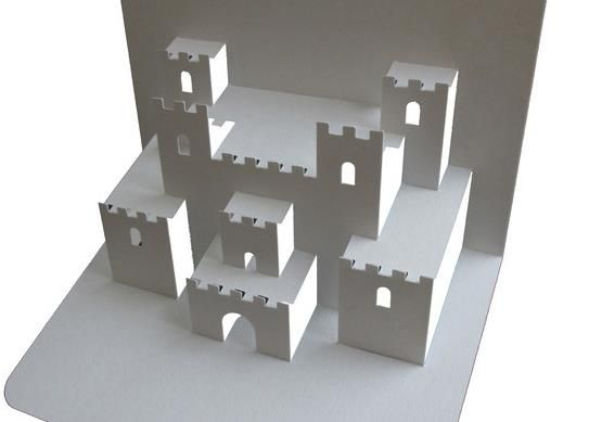 Medieval castle pop up paper model by popupology for Craft paper card stock