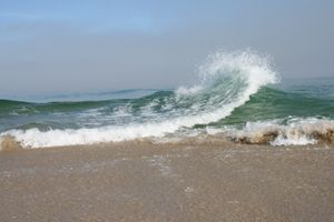 Waves in two directions meeting at East Spit on Sable Island © #ParksCanada