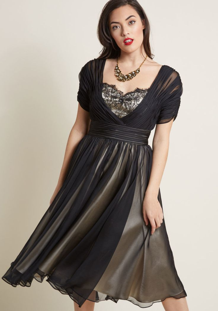 Iconic Elegance Fit and Flare Dress