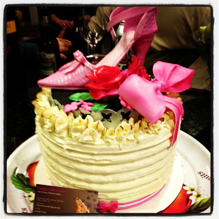 Fondant shoe cake |Pinned from PinTo for iPad|