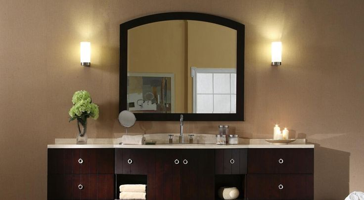 Popular Lighting Combine Task And Decorative Lighting To Create A Bathroom