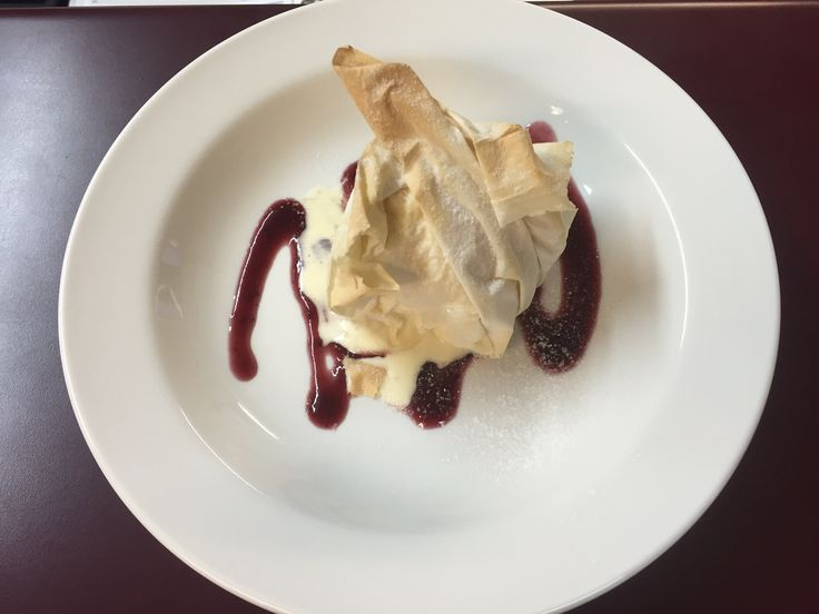 Baked Ice Cream in Filo Pastry. This was made during the V-Zug cooking demonstration at L & M Gold Star (2584 Gold Coast Highway, Mermaid Beach, QLD). The Combi Steam Oven used is on display in our showroom.