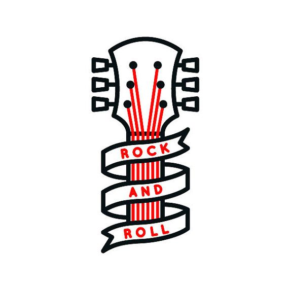 Rock and roll tattoo sticker by Filip Gres by tattoosticker