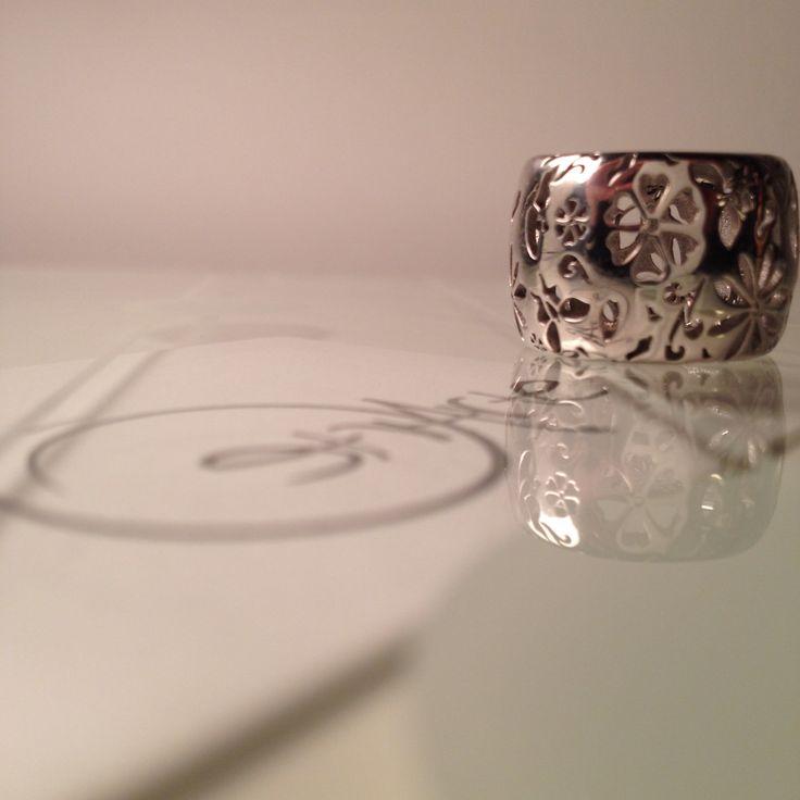 Anello Fantasy bombato alto in argento by Etrarte
