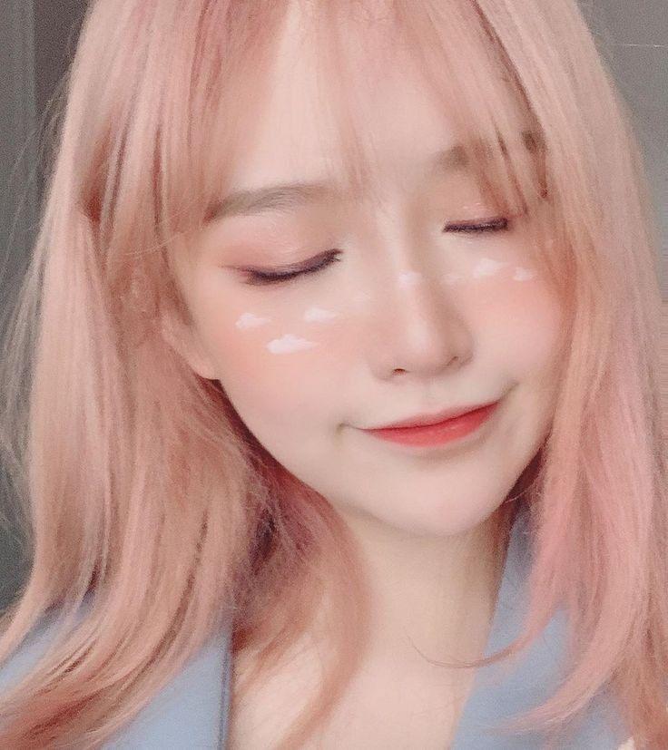 Korea Girls Light Pink Hair Ulzzang Hair Pastel Pink Hair