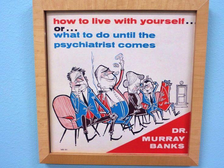 Mid Century Psychiatrist Picture - Dr Murray Banks Album - 1960s - Cool Graphics - Retro Doctor Office - LP Record