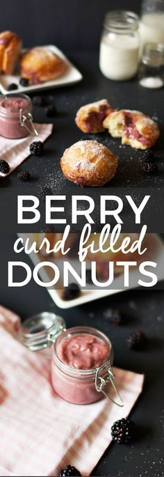 Blackberry Curd Filled Homemade Donuts | homemade donut recipes, sweet donut recipes, donut recipe ideas, donut dessert recipes, dessert recipe ideas, blackberry flavored donuts, how to make homemade donuts, easy donut recipes, recipes using fresh blackberries || The Butter Half via @thebutterhalf