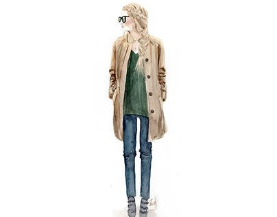 """Check out new work on my @Behance portfolio: """"Girl in coat"""" http://be.net/gallery/31175257/Girl-in-coat"""