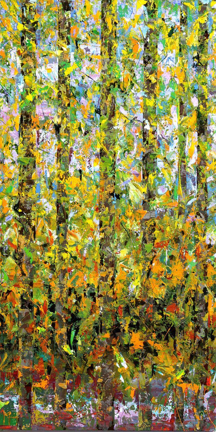 Manolis Pentes 'Rhythm II' 2016 acrylic 77X152cm