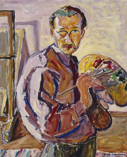 Finnish artist YRJO SAARINEN (1899-1958)  Self-Portrait (1940) Finland