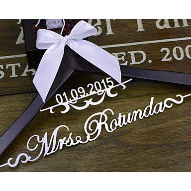 Подарки невесты подарок роскошный вешалка персонализированные свадебные платья, свадебные на заказ невесты вешалка el001 – EUR € 40.99