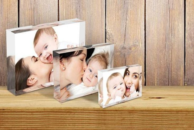 3 Personalised Acrylic Photo Blocks