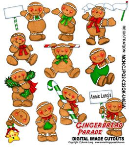 Gingerbread Parade Cutouts