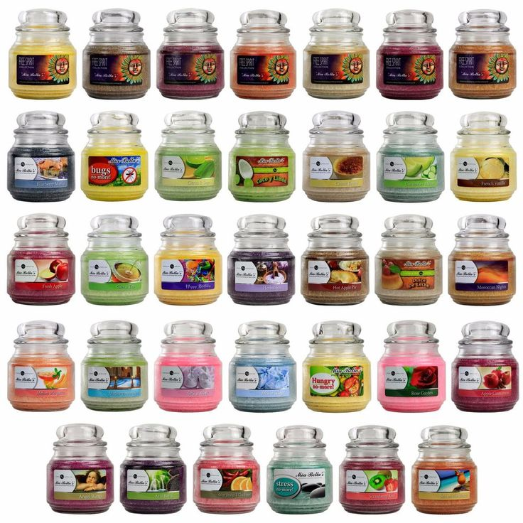 Mia Bella's Scented Candle Jars Natural Wax Medium 16oz 454g 110 Burning Hours #MiaBellas
