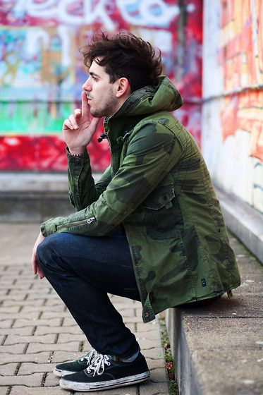 Camouflage: Street Fashion, Boho Chic, Fashion Style, Guys Style, Street Style, Men Style, Men Fashion, Camo Jackets, Army Jackets