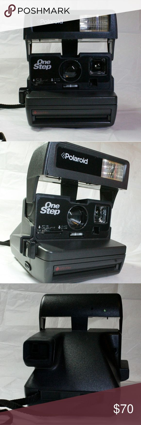 Polaroid One Step 600 instant camera A Polaroid camera that's in great condition like new only has been used once. Works well and takes some great photos. Still has some of the plastic on it. Uses Polaroid 600 film polaroid Other