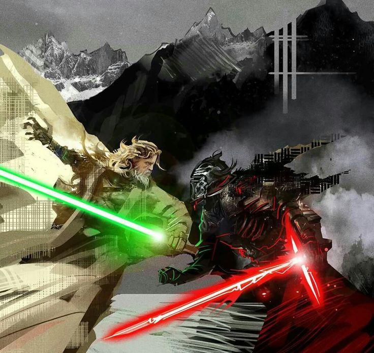 Master Luke vs. Kylo Ren