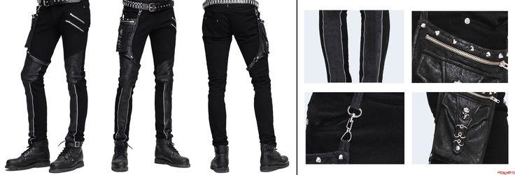 Rockové kalhoty pánské dlouhé Andras