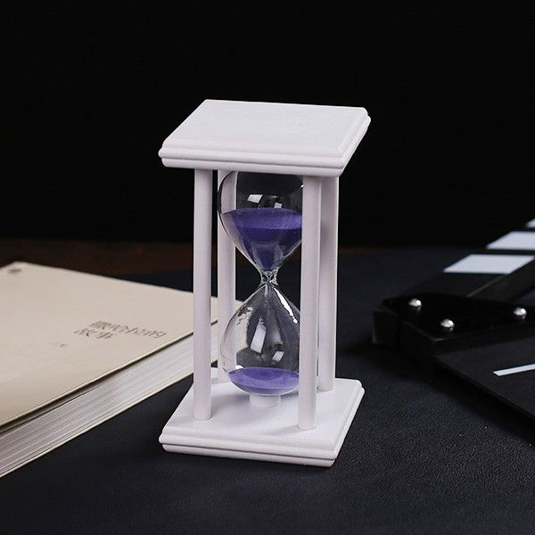30 Minute sand Hourglass Countdown Timing 14.5*8*8cm Modern Wooden Sandglass Sand Clock Timer Home Decoration reloj de arena