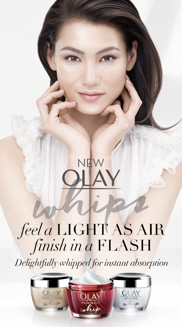 Feel a light as air finish in a flash with brand new Olay Whips. Ten years in the making, this breakthrough weightless moisturizing formula is light as air without compromising the potency. Start your new routine today.