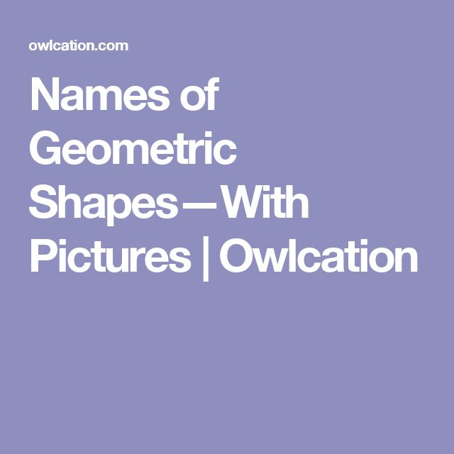 Names of Geometric Shapes—With Pictures | Owlcation