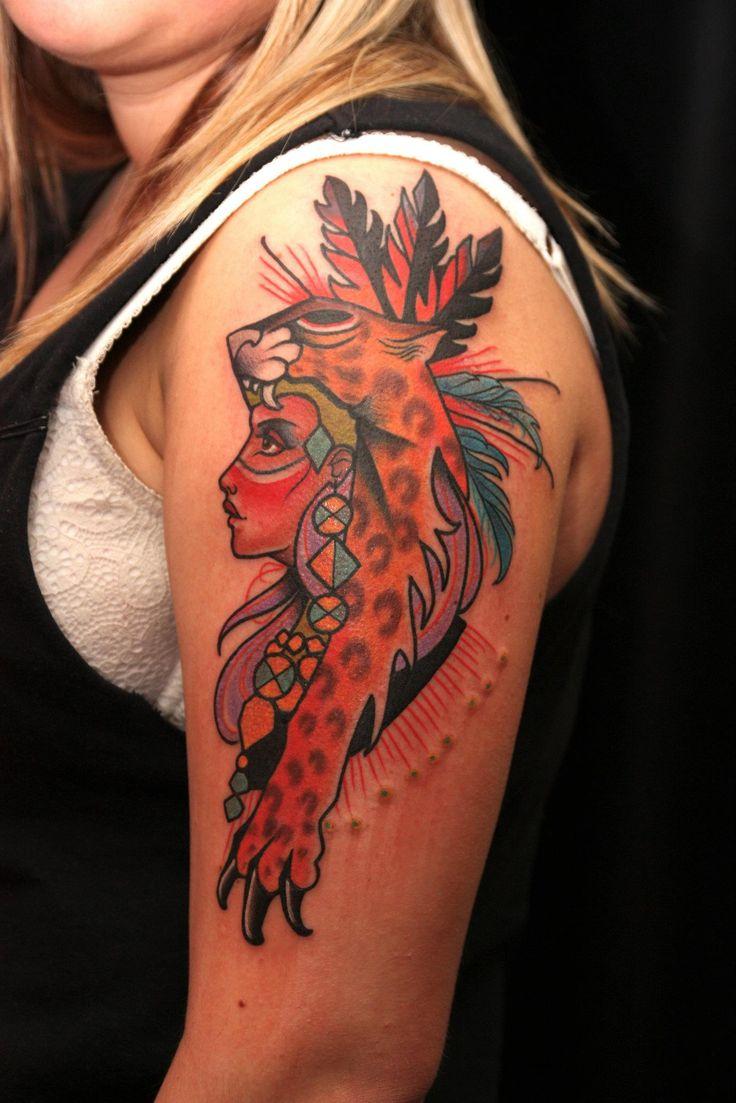 Girl Leopard Tattoo