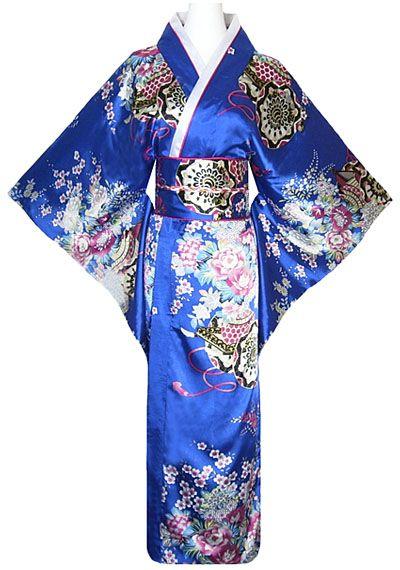 kimono japonais femme bleu http://www.laciteinterdite.com/kimono-japonais-geisha-bleu-avec-obi-et-noeud-c2x11506507