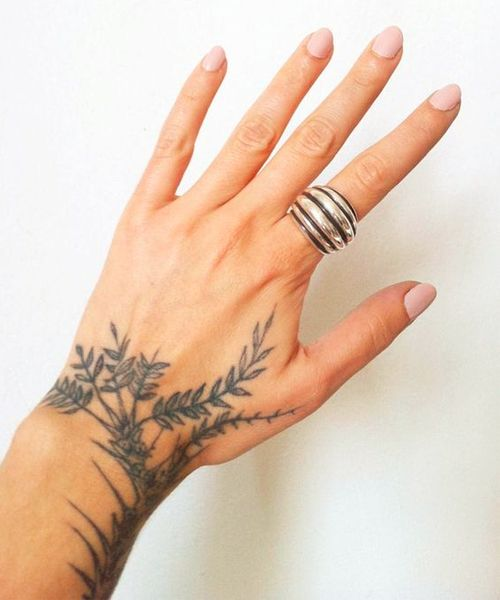 11 of the Most Eye Catching Branch Tattoos on Wrist for Girls