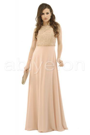 Uzun somon abiye elbise
