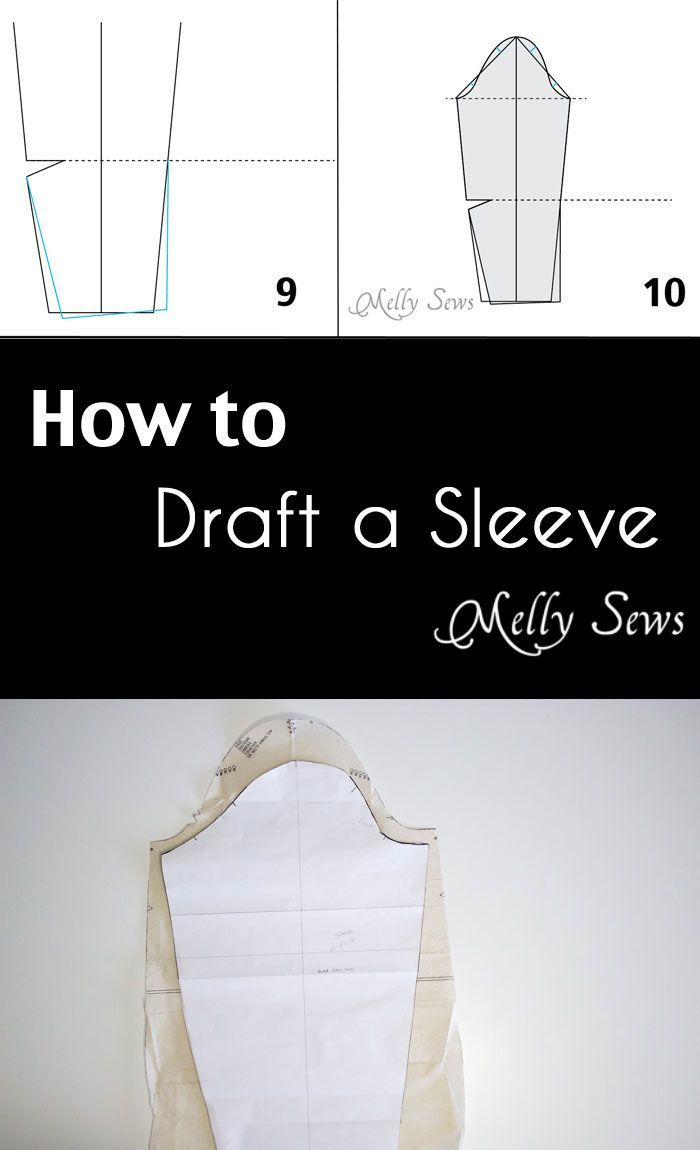 So useful - How to draft a sleeve - Melly Sews - make a sleeve pattern
