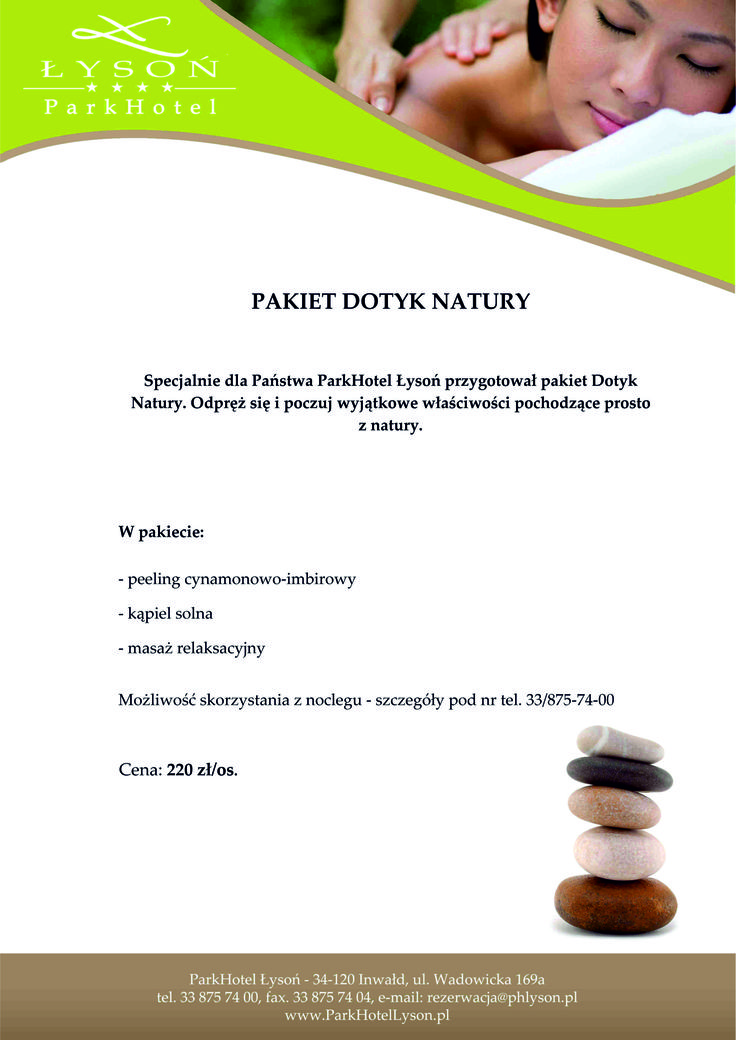 Pakiet Dotyk Natury. #SPA #relax #rest #pleasure #relaxation #massage #peeling #naturetouch #bath