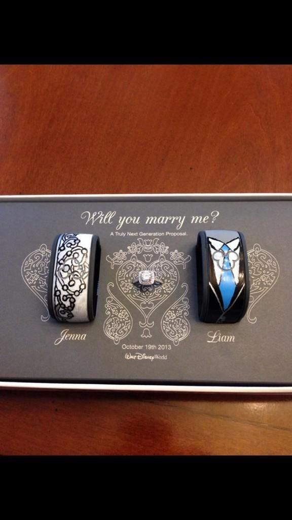 Disney Magic Bands and an engagement ring. Next generation ...