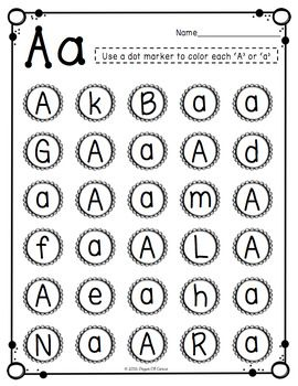 Letter Recognition Activities Uppercase & Lowercase