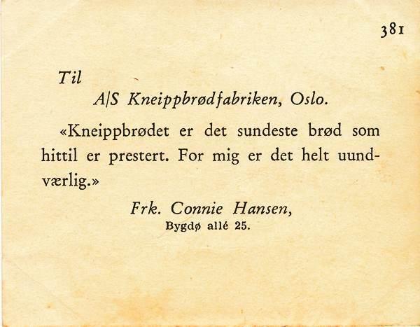 SAMLERKORT KNEIPPBRØDFABRIKKEN 1935/38 - 381 TROLLTINDENE - Selges av Habanero fra Oslo på QXL.no
