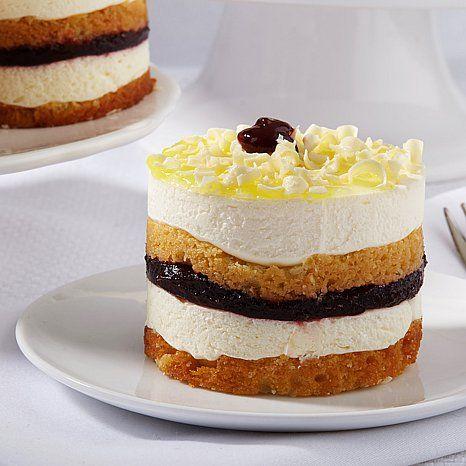 Vanilla cake ( genoise), Lemon Mouse, Raspberry preserves, lemon glaze ...