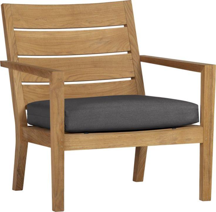 Regatta Lounge Chair With Sunbrella® Charcoal Cushion   Crate And Barrel.  Green CushionsOutdoor ...