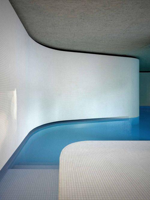 indoor swimming pool designed by Italian studio act_romegialli