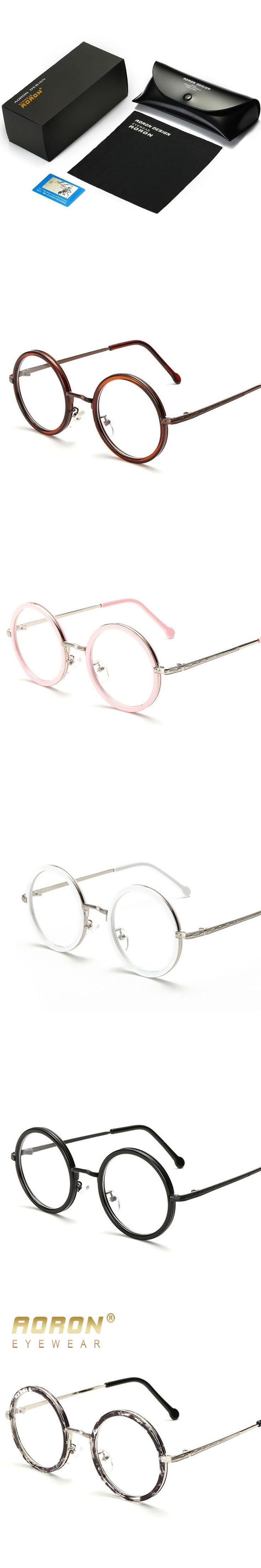 AORON Women's Round Glasses Retro Classic Unisex Teashd Circle Granny Glasses Oculos Accessoriesades Leisure Eyewear
