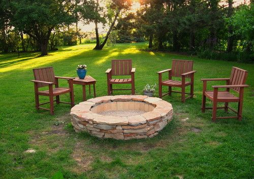 Build your own stone fire pit woodworking projects plans for Build my own fire pit