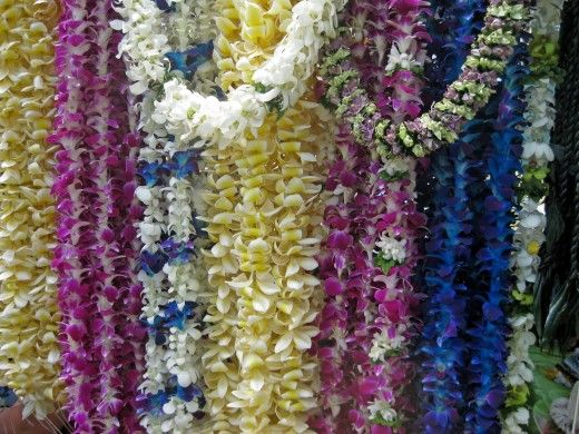 real Hawaiian Lei (*note* there is no ''s'' on the end of the Hawaiian word ''lei'' if it's plural)