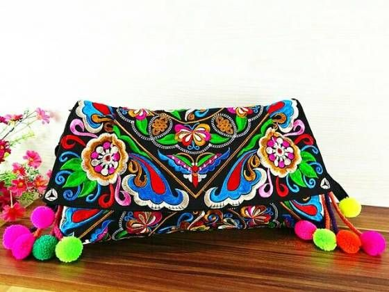 Shopo.in : Buy Embroidered Shoulder Bag online at best price in Ahmedabad, India