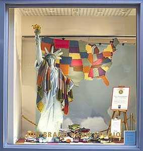 Another great Lion Brand Yarn Studio window display