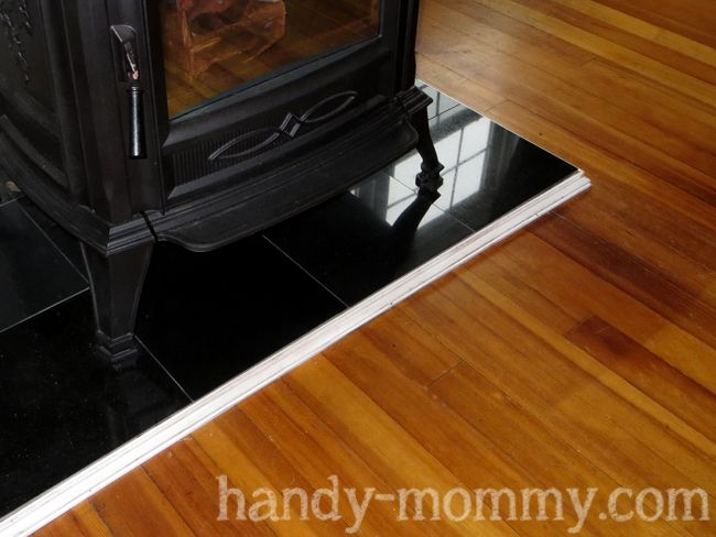 Handy Mommy DIY Pellet Stove Hearth A Rant About Heating Costs