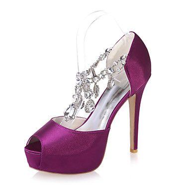 Scarpe+da+sposa+-+Sandali+-+Spuntate+-+Matrimonio+/+Serata+e+festa+-+Nero+/+Blu+/+Viola+/+Avorio+/+Bianco+/+Argento+/+Champagne+-+Da+donna+–+EUR+€+58.79
