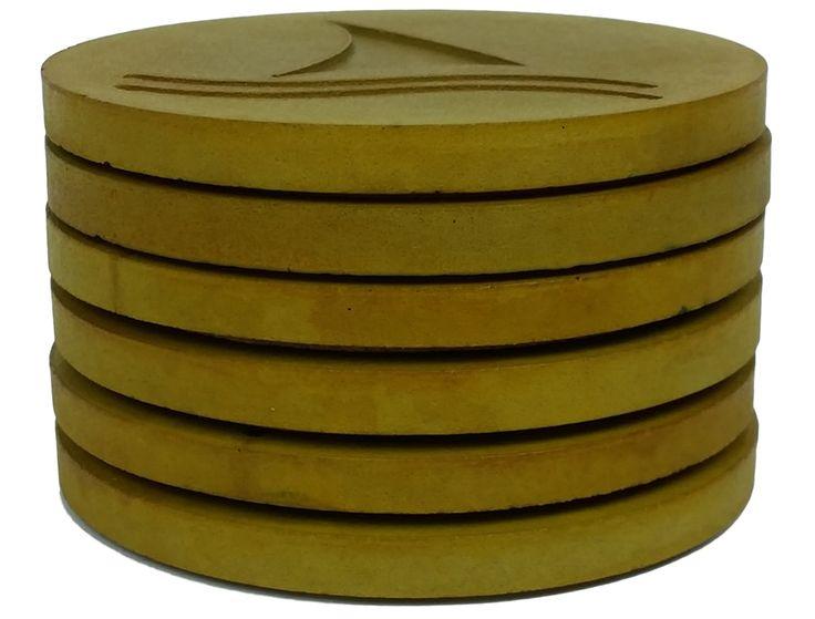 Concrete coasters - Gold