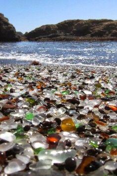 Glass Beach in MacKerricher State Park is a unique tourist destination in California.