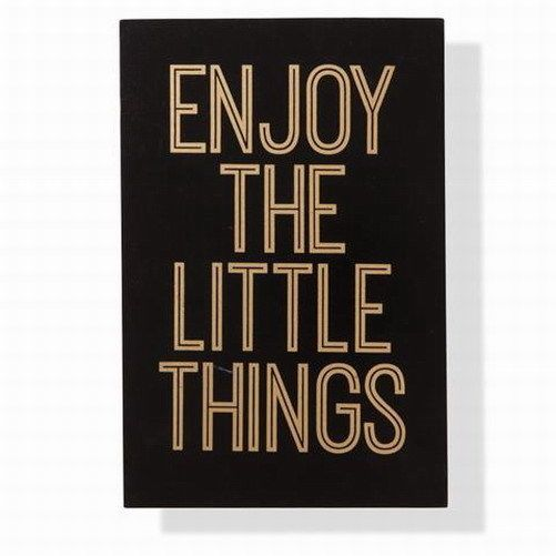 Buy Now from Beautiful Bella's Boutique: http://www.ebay.com.au/itm/enjoy-the-little-things-inspirational-quote-home-decor-black-and-gold-sign/171964117494?hash=item2809dc31f6