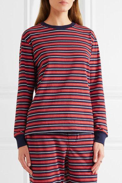 Sleepy Jones | Stevie striped cotton pajama top | NET-A-PORTER.COM