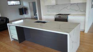 Calacatta Quartz Stone Kitchen Install