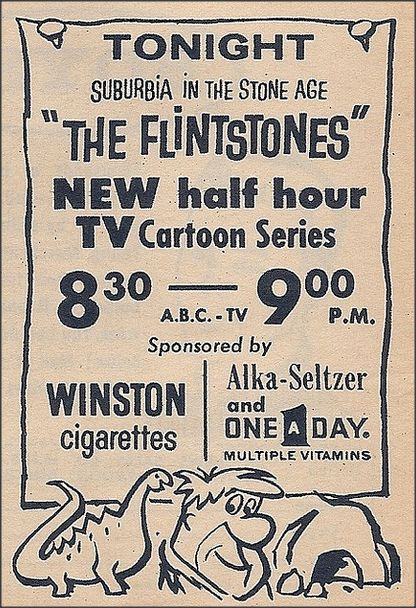 September 30, 1960 - The Flintstones Debuted, well I don't remember when they debuted obviously but I thought this was neat